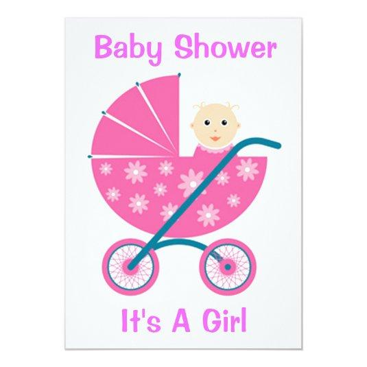 Its a girl baby shower invitation save the date cards dollar216 its a girl baby shower invitation filmwisefo