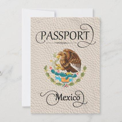 Ivory Mexico Passport Save the Date Card
