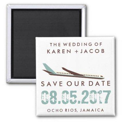 Jamaica Destination Wedding Save the Date Magnet