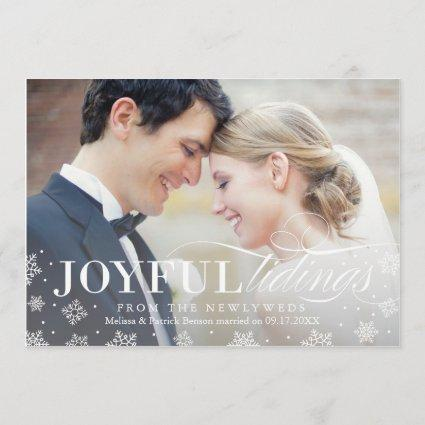 Joyful Tidings Newlywed First Christmas Card