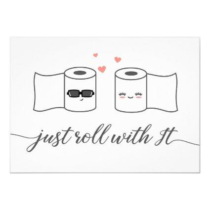 Just Roll With It Postponed Wedding Announcement