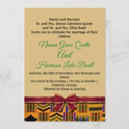 Kente wedding invitations and .