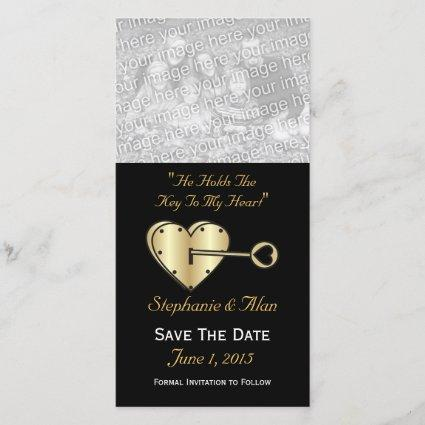Key To My Heart Save The Date Photo