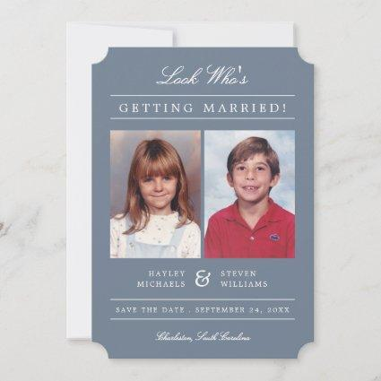 Kid Photos Old School Classic Styled | Dusty Save The Date
