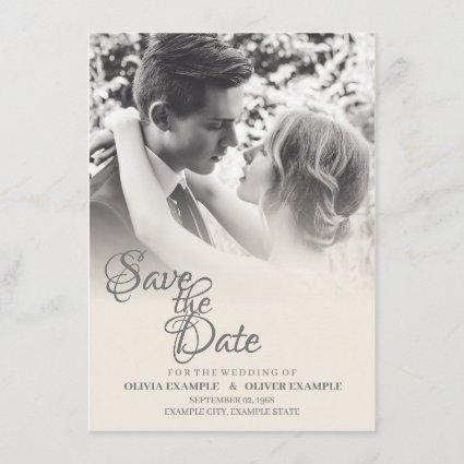 Kissing wedding couple in monochrome enclosure card