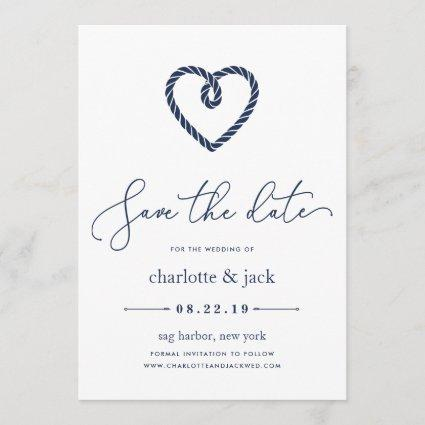 Knotted Heart Save the Date Card