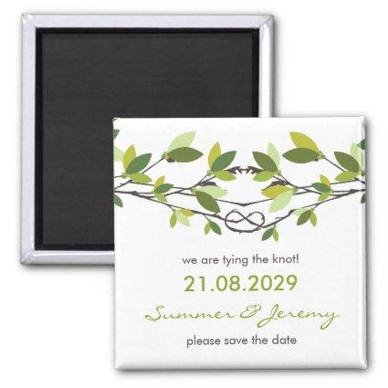 Knotted Love Trees Summer Wedding Save The Date Magnet