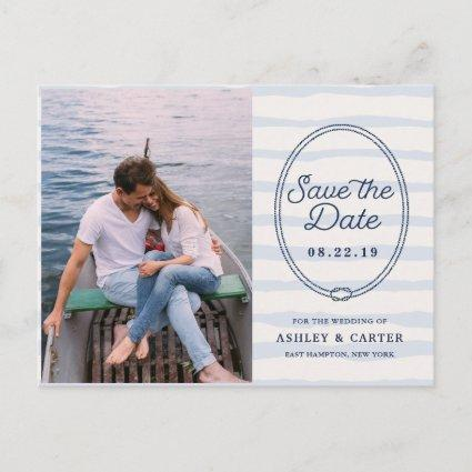 Knotted | Nautical Photo Save the Date Announcement