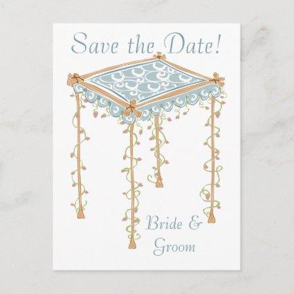 KRW Custom Jewish Wedding Canopy Save the Date Announcement