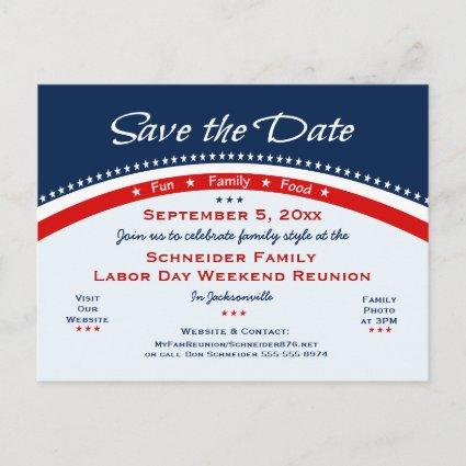 Labor Day Family Reunion, Party Save the Date Announcement