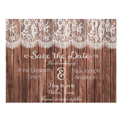 Lace and wood  IV Cards
