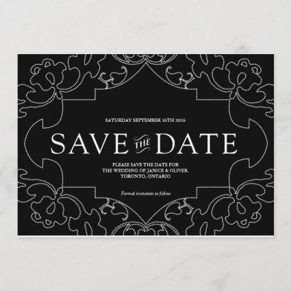 Lacy Save the Date / Black