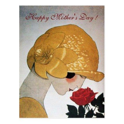 LADY WITH RED ROSE Happy Mother's Day