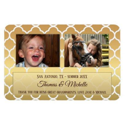 Large Personalized Gold Photo Flexible Magnet