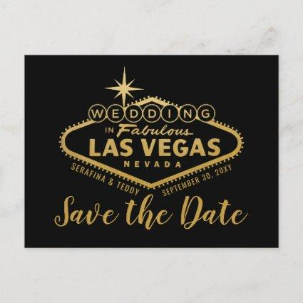 Las Vegas Destination Wedding Save the Date Announcement