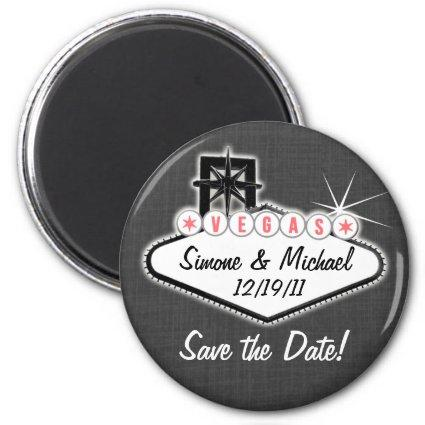 Las Vegas Magnets -  - round or square