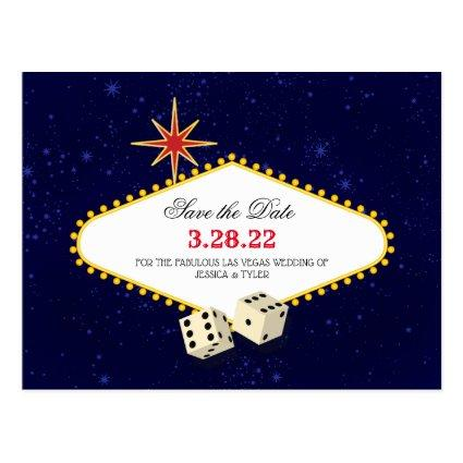 Las Vegas Marquee Save the Date Cards