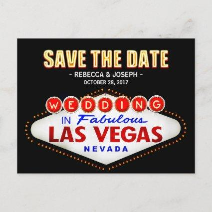 Las Vegas Neon Sign - Save the Date Wedding Announcements Cards