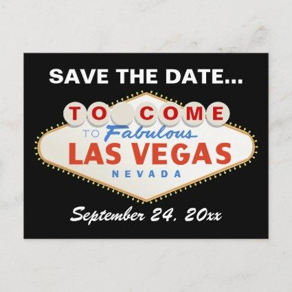 Las Vegas sign destination wedding Save the Date Announcement