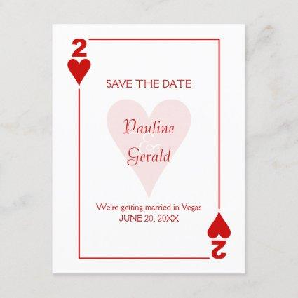 Las Vegas Two of Hearts Wedding Save The Date