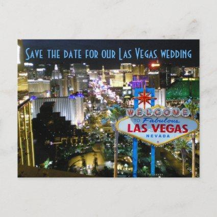 Las Vegas Wedding Save the Date NV Announcements Cards