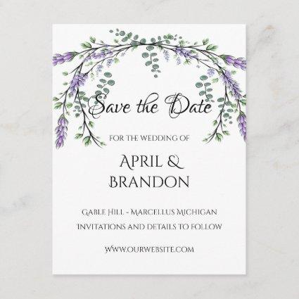 Lavender and Eucalyptus Save The Date