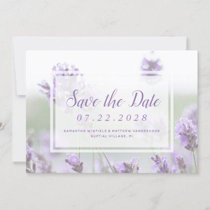 Lavender Floral Purple Summer Wedding Save The Date