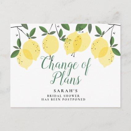Lemons Change The Date Postponed Cancelled Event