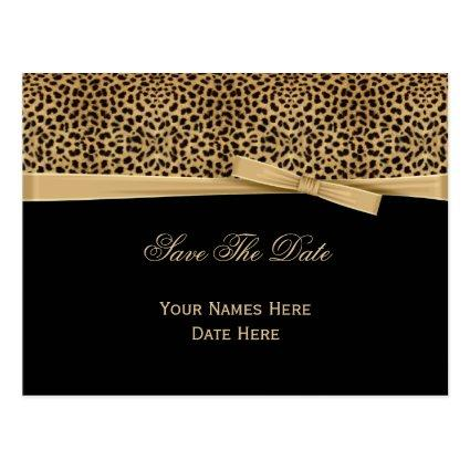 Leopard Print Bow Ribbon on Black