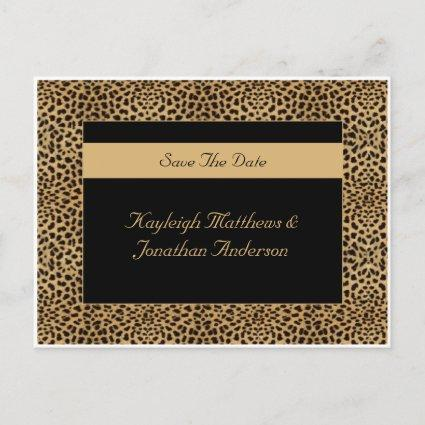 Leopard Print Save The Date Announcement