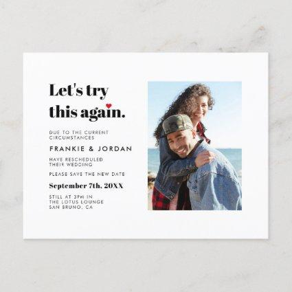"""""""Let's Try This Again"""" 