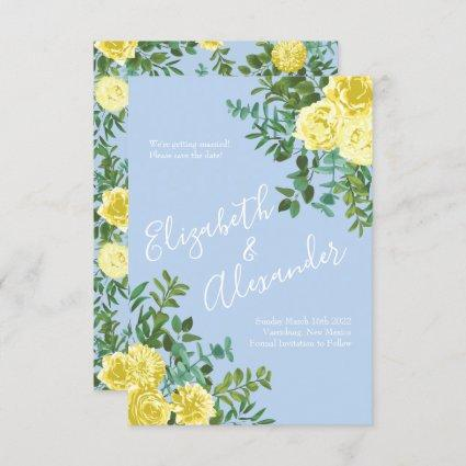 Yellow and Lilac Rose Arrangements Wedding Clip-art Bouquets Seamless Paper Save Our Date WC419
