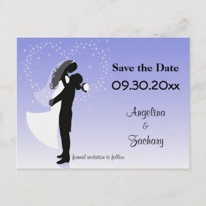 Lilac Ombre Save The Date Wedding Post Cards