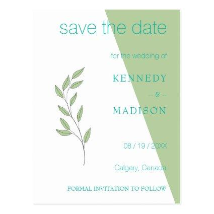 Lime Green Geometric Non-Binary Minimalist Wedding