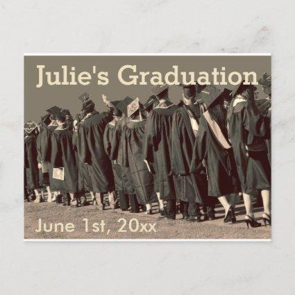 Line of Graduates Photo Announcements Cards