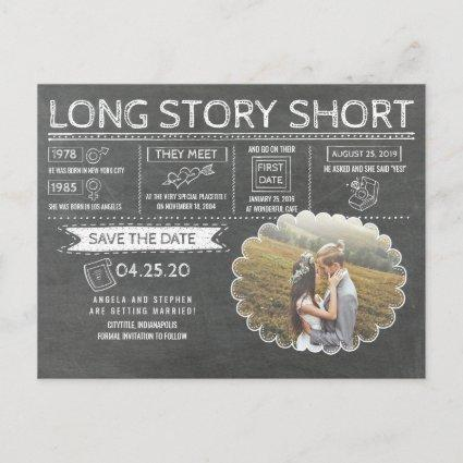 Long Story Short | Funny | Photo Save the Date Announcement