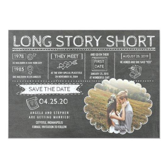 Long Story Short | Funny | Photo Save the Date Card