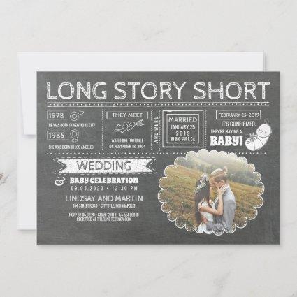Long Story Short | Wedding and Baby Celebration Save The Date