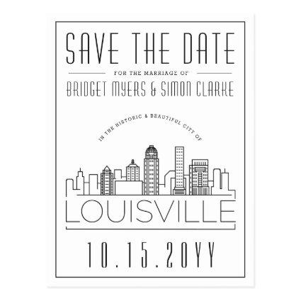 Louisvill Wedding | Stylized Skyline