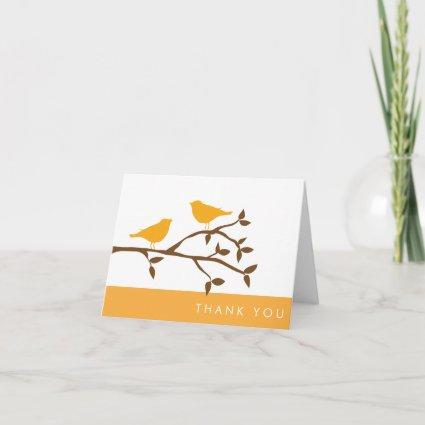 Love Birds Thank You Cards