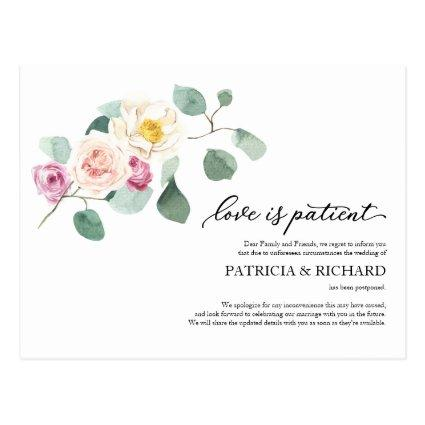 Love Is Patient Eucalyptus Wedding Postponement