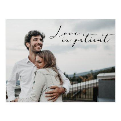 Love is Patient Save the NEW date Wedding