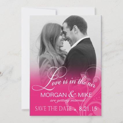 Love Mist Photo Save the Date | fuschia