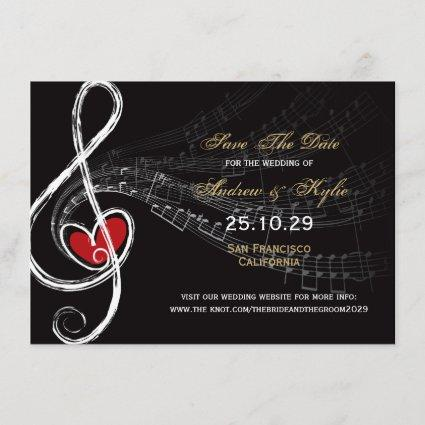 Love & Music Artist Photo Save The Date Cards