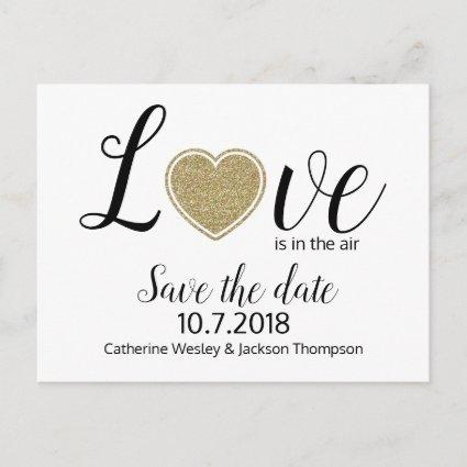 Love Wedding Save the Date Post Card