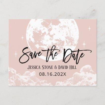 Love You To the Moon & Back Blush Save the Date Announcement