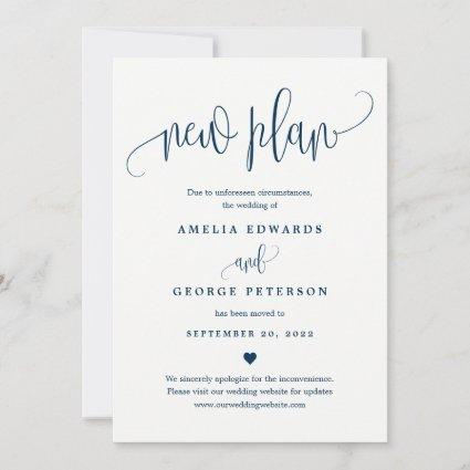 Lovely Calligraphy EDITABLE COLOR Update Card