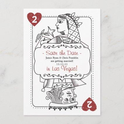 Lucky in Love Save the Date - 2 of Hearts