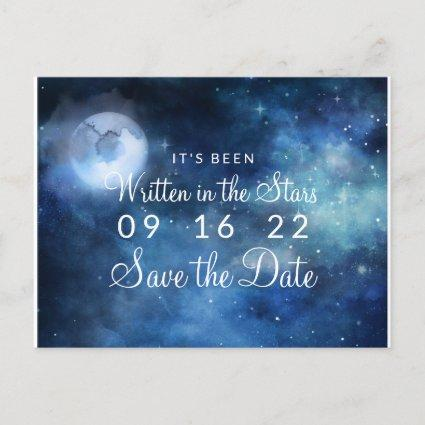 Lunar Sky Full Moon Celestial Galaxy Save the Date Announcement