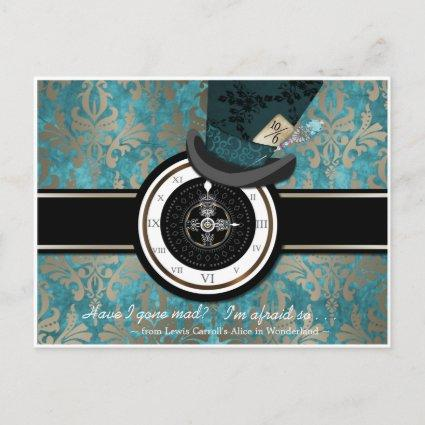 Mad Hatter Save the Date Cards
